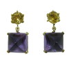 Amethyst citrin earrings