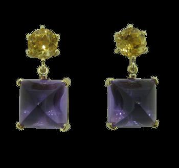 Amethyst citrin earrings
